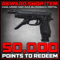 Reward Shop Item - KWA M93R 3-Round Burst NS2 PTP Airsoft Gas Blowback Airsoft Pistol Gas Blowback Pistol- ModernAirsoft.com