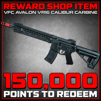 Reward Shop Item - Elite Force / VFC Avalon VR16 Calibur Full Metal Carbine M4 AEG Rifle w/ Keymod Handguard (Black) Airsoft Electric Gun- ModernAirsoft.com