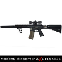 z MaxChange Open Box/Custom TIPPMANN OMEGA-PV CARBINE ELECTRO-PNEUMATIC AIRSOFT RIFLE With 3 Tanks