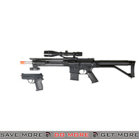 UKARMS Polymer RIS Spring Rifle M4 Replica P1137 w/ Scope, Laser, Flashlight, Bonus Pistol Air Spring Rifles- ModernAirsoft.com