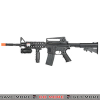 UKArms P1158B M4 Carbine Airsoft Spring Power Rifle w/ Flashlight Air Spring Rifles- ModernAirsoft.com