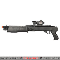 UKARMS Spring Powered Shell Loading Franchi SPAS Style Shotgun P2302 w/ Laser - Sawed Off Airsoft Shotguns- ModernAirsoft.com