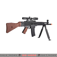 UKARMS StG-44 Sturmgewehr Style Airsoft Spring Rifle P2303 w/ Bipod, Scope, Laser - Black, Faux Wood Air Spring Rifles- ModernAirsoft.com