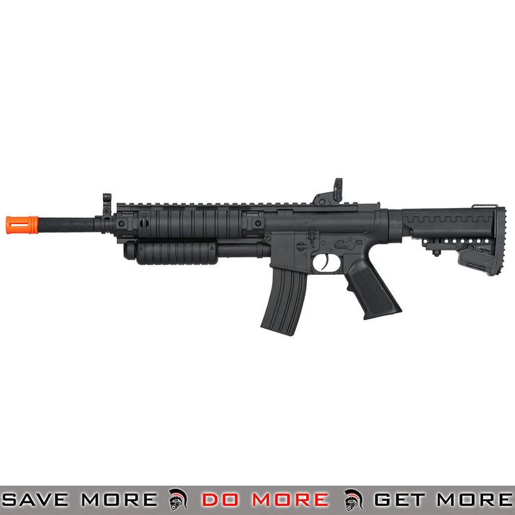 UKARMS Polymer Pump Action M4 Airsoft Spring Rifle P2308 - Black Air Spring Rifles- ModernAirsoft.com