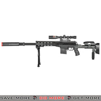 UKARMS P2668 Polymer Replica Spring Sniper w/ Bipod and Scope - Black Air Spring Rifles- ModernAirsoft.com