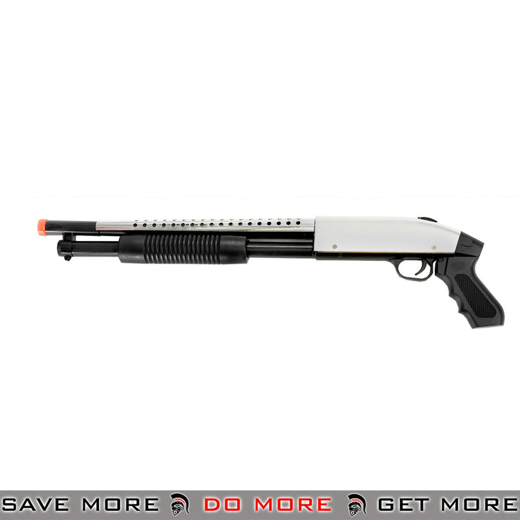 CYMA Airsoft Spring Powered Remington Style Sawed Off Shotgun P788S - Silver Airsoft Shotguns- ModernAirsoft.com