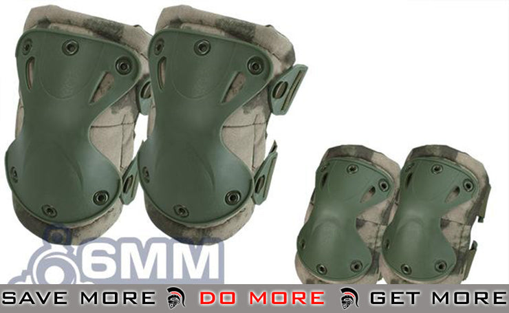 6mmProShop Knee & Elbow Pad Set (Arid Foliage) Knee / Elbow Pads- ModernAirsoft.com