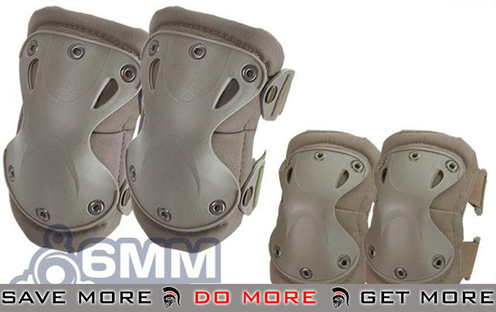 6mmProShop Elbow & Knee Pad Set (Tan)