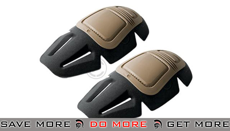 Crye Precision AIRFLEX™ Combat Knee Pad Set (Color: Khaki) Knee / Elbow Pads- ModernAirsoft.com