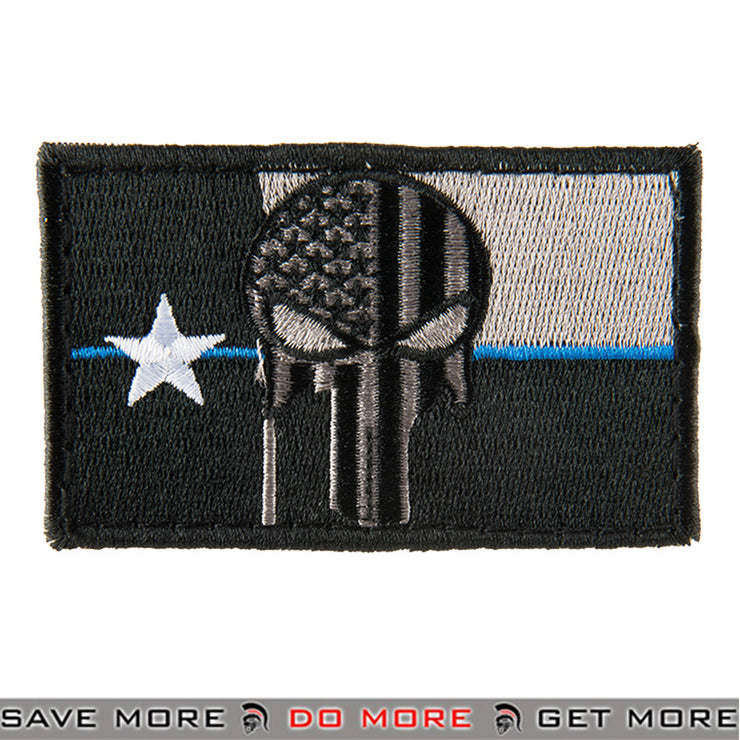 G-FORCE Texas Punisher PVC Airsoft Velcro Morale Patch