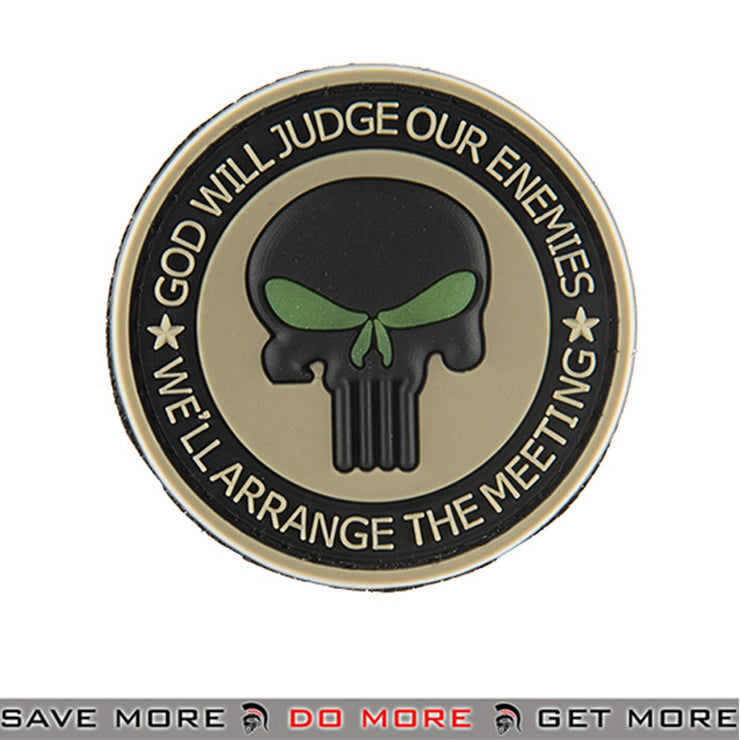 G-FORCE God Will Judge PVC Airsoft Velcro Morale Patch Green