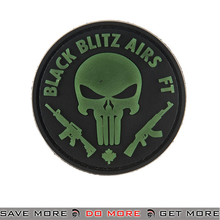 G-FORCE Black Blitz Airs ft PVC Airsoft Velcro Morale Patch