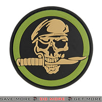 G-Force Skull and Knife Commando Airsoft Velcro PVC Morale Patch