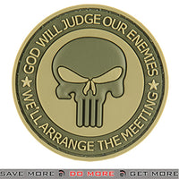 G-Force God Will Judge Airsoft Velcro PVC Morale Patch