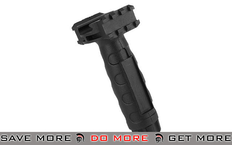 Aim Sports Black Tactical Vertical with Side Rails and Pressure Switch Capability Vertical Grips- ModernAirsoft.com