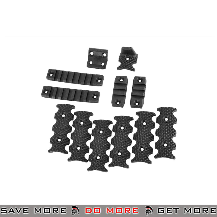 PTS Licensed Centurion Arms CMR Rail Accessory Pack - Black Rail Accessories- ModernAirsoft.com