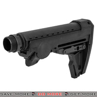 PTS Ergo F93 Pro Collapsible Stock with Pad for Airsoft GBB Gas Blowback Rifle - Black Stocks- ModernAirsoft.com