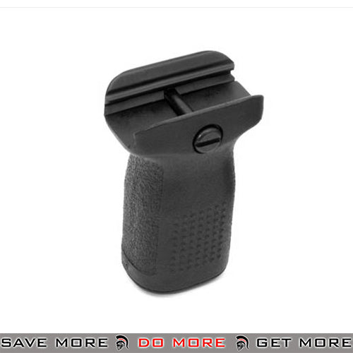 PTS Enhanced Polymer Foregrip Short EPF-S Vertical Grip for Airsoft Hand Guards - Black Vertical Grips- ModernAirsoft.com