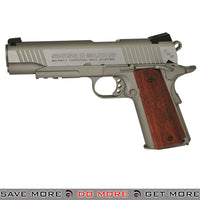 Swiss Arms SA 1911 TRS CO2 BB Pistol, Brown Grips [Silver with Wood Grips] Not Airsoft .177