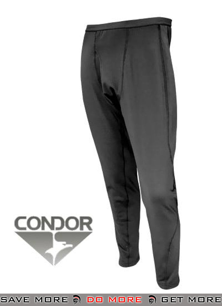 Condor Black Large Cold Weather BASE II Mid-Weight Drawer Thermals / Cold Weather- ModernAirsoft.com