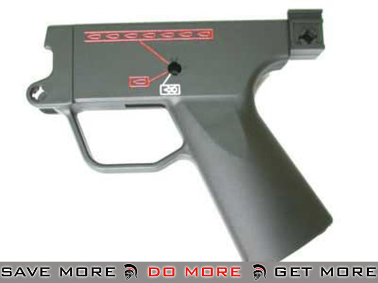 ICS MP5 Navy Lower Receiver Body for ICS / Marui MP5 Series Airsoft AEG Motor / Hand Grips- ModernAirsoft.com