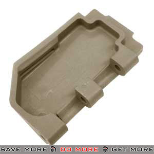 Replacement Stock Hinge Connection Plate for WE SCAR Gas Blowback Rifle (TAN) WE-Tech Parts- ModernAirsoft.com
