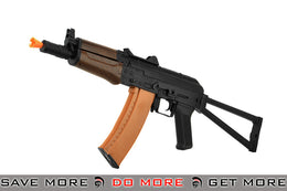 Lancer Tactical AK74U Airsoft AEG Rifle (Imitation Wood)