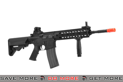 "Lancer Tactical Full Metal 14.5"" M4 Multi-Mission Carbine LT100MR Airsoft AEG Rifle with Recoil System-(Color: Black) Airsoft Electric Gun- ModernAirsoft.com"