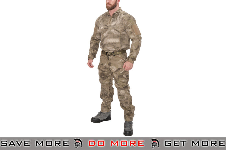 Lancer Tactical Camoflage Rugged Combat Uniform w/ Integrated Pads - AU Shirts- ModernAirsoft.com