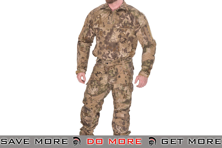 Lancer Tactical Camoflage Rugged Combat Uniform w/ Integrated Pads - HLD - Modern Airsoft