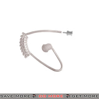 Code Red Replacement Acoustic Clear Eartube w/ Mushroom Ear Bud RACT-C - Clear Headset Accessories- ModernAirsoft.com
