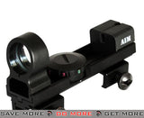 AIM Sports 1x25 Real Steel Illuminated Weaver & Dove Tail Quick-AIM Red/Green Dot Sight Optic Red Dot Sights- ModernAirsoft.com