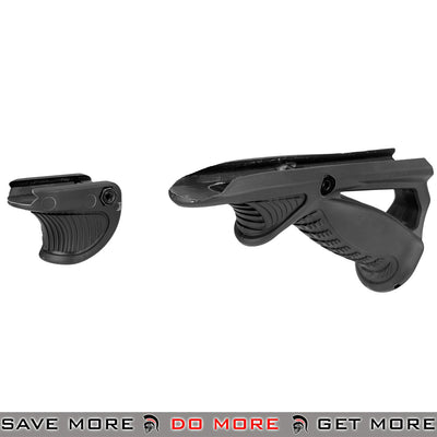 Sentinel Gears Tactical Ergonomic Pointing Angled Foregrip & Handstop / Thumb Rest Rail Accessory Set SG-46-2B - Black Vertical Grips- ModernAirsoft.com