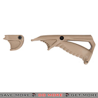Sentinel Gears Tactical Ergonomic Pointing Angled Foregrip & Handstop / Thumb Rest Rail Accessory Set SG-46-2T - Tan Vertical Grips- ModernAirsoft.com