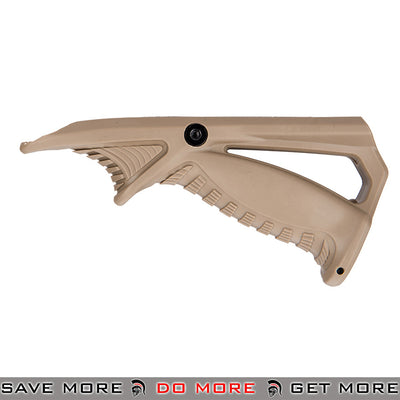 Sentinel Gears Rail Tactical Ergonomic Pointing Angled Foregrip SG-46-4T - Tan Vertical Grips- ModernAirsoft.com