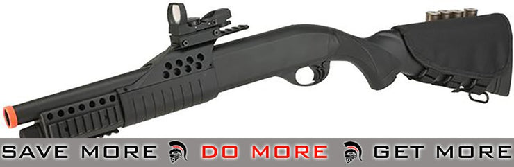 JG / AGM Full Size SPAS Realistic Shell Loading Airsoft Shotgun (Full Stock) Airsoft Shotguns- ModernAirsoft.com