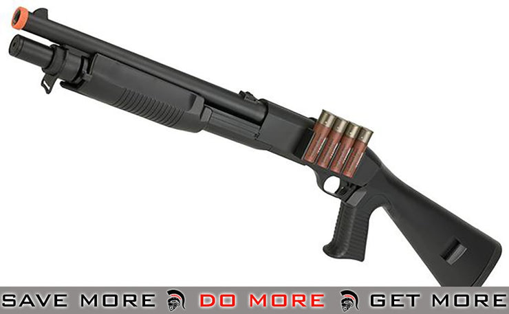 JG / AGM Full Size M3 Realistic Shell Loading Airsoft Shotgun (Full Stock) Airsoft Shotguns- ModernAirsoft.com