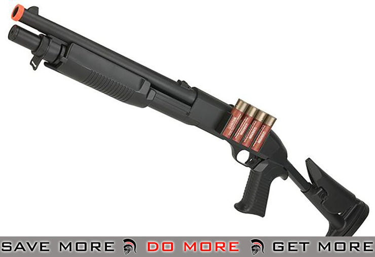 JG / AGM Full Size M3 Realistic Shell Loading Airsoft Shotgun (Retractable Stock) Airsoft Shotguns- ModernAirsoft.com