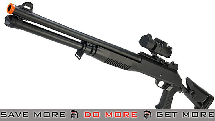 JG / AGM M3 Tactical Shell loading Airsoft Shotgun with Collapsible Stock Airsoft Shotguns- ModernAirsoft.com