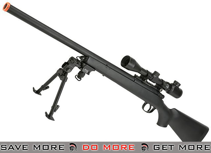 AGM M700 Airsoft Bolt Action Sniper Rifle w/ Scope Rail (Black) M700 / M24 / M28 / M40 / VSR-10- ModernAirsoft.com