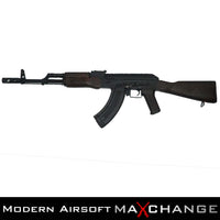 MaxChange Used CYMA STAMPED STEEL / REAL WOOD FULL SIZE AK-74 AIRSOFT AEG With Custom Stained Wood