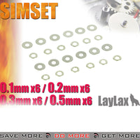 Laylax Gear Shim Set - 4 set .1mm, .2mm, .3mm, .5mm