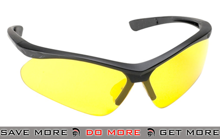 HFC Airsoft Safety Shooting Glasses (One Set) - Yellow Lens Head - Shooting Glasses- ModernAirsoft.com