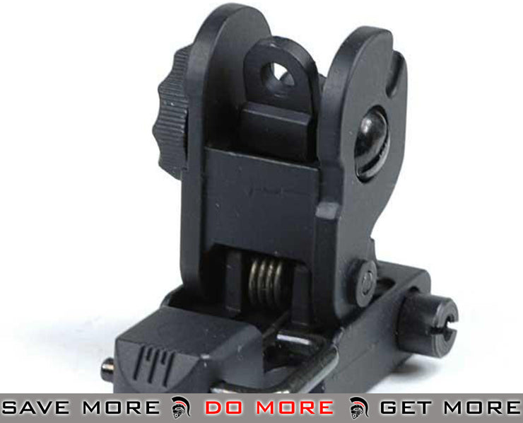 A&K Full Metal 300M & 600M Flip-Up Rear Sight or Airsoft AEG / Weaver Rails iron sights- ModernAirsoft.com