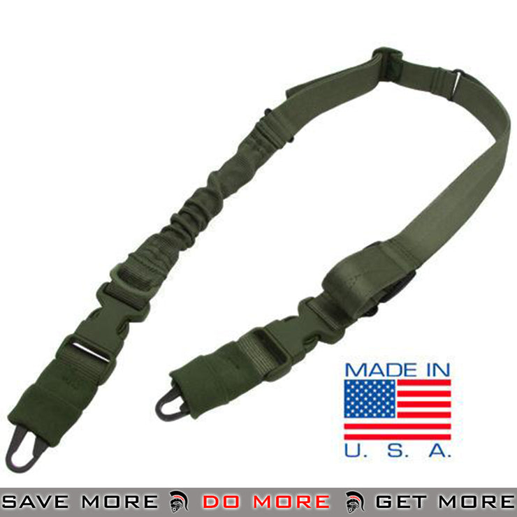 Condor STRYKE Two Point Bungee Sling (OD Green) Slings- ModernAirsoft.com