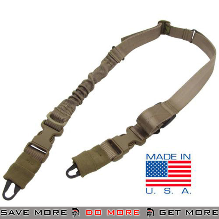 Condor STRYKE Two Point Bungee Sling (Tan) Slings- ModernAirsoft.com