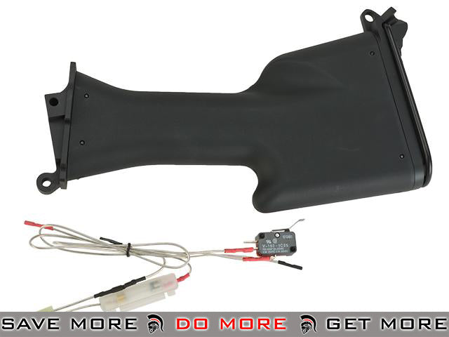 A&K M249 MK2 Stock with Wiring for M249 SAW Series Airsoft AEG Stocks- ModernAirsoft.com