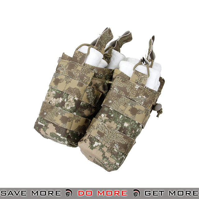 TMC Tactical Double M4 / M16 Open Top Bungee Shingle Magazine Pouch T2417-BL - Badlands Ammo Pouches- ModernAirsoft.com