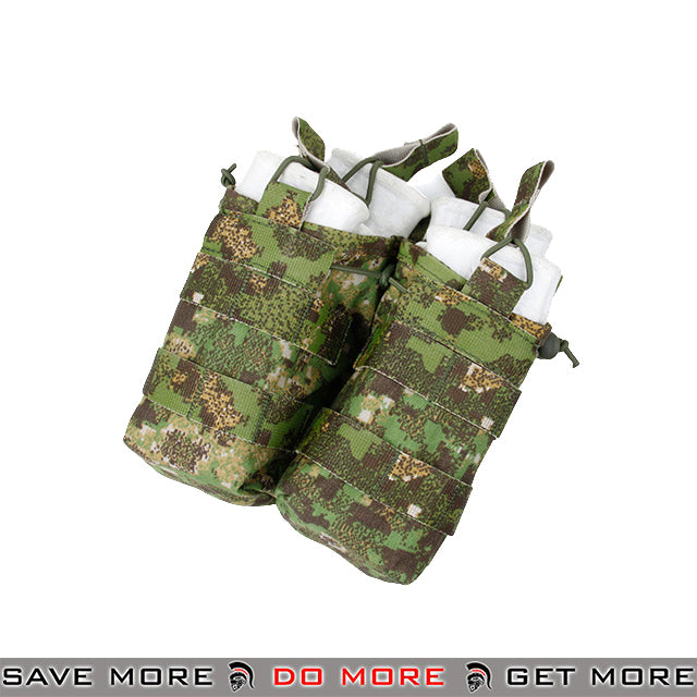 TMC Tactical Double M4 / M16 Open Top Bungee Shingle Magazine Pouch T2417-GZ - Greenzone Ammo Pouches- ModernAirsoft.com