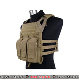 TMC Tactical Airsoft Versatile Lightweight Scout Plate Carrier T2423CB - Coyote Brown plate carrier- ModernAirsoft.com